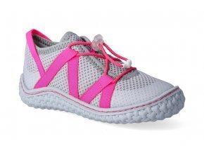 13577 1 barefoot tenisky ricosta pepino pepp grau neon pink 2