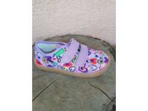 Froddo Barefoot plátěné tenisky Lilac