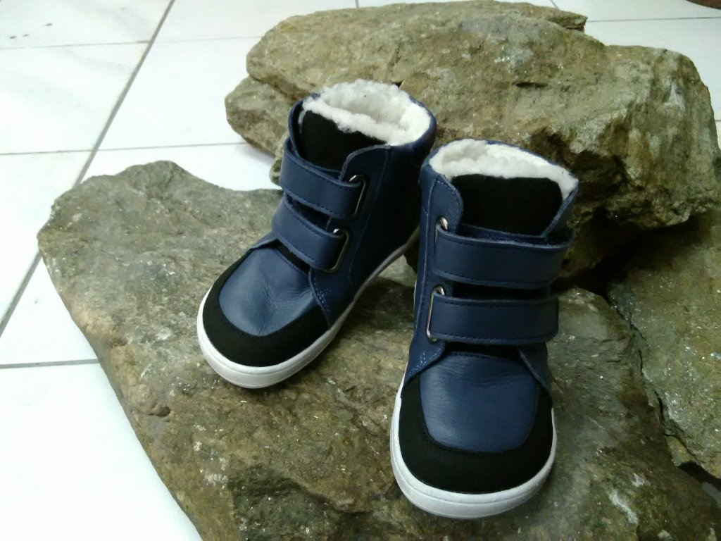 baby bare shoes febo winter navy 1