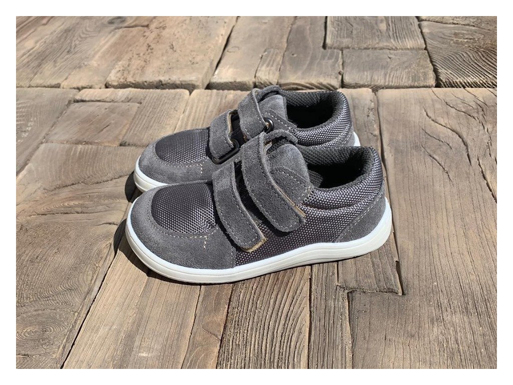 baby bare shoes febo sneakers grey 1