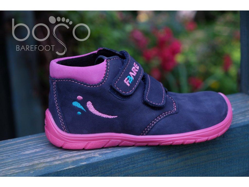 Fare Bare celoroční kožené boty 5221211 - fialové s flísem