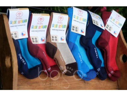 surtex ponozky detske 80% merino volny lem 1