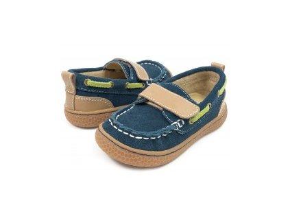 pantofi baieti albastru north din piele naturala