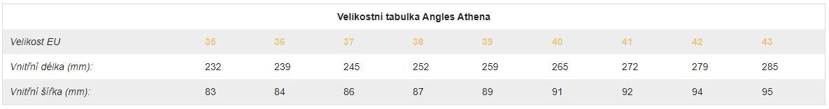 Angles-Athena-velikostni-tabulka