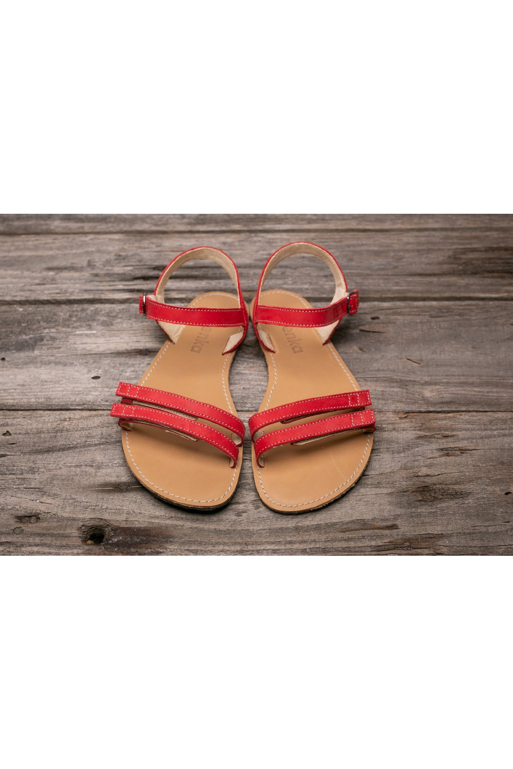 Be Lenka barefoot Summer sandály red