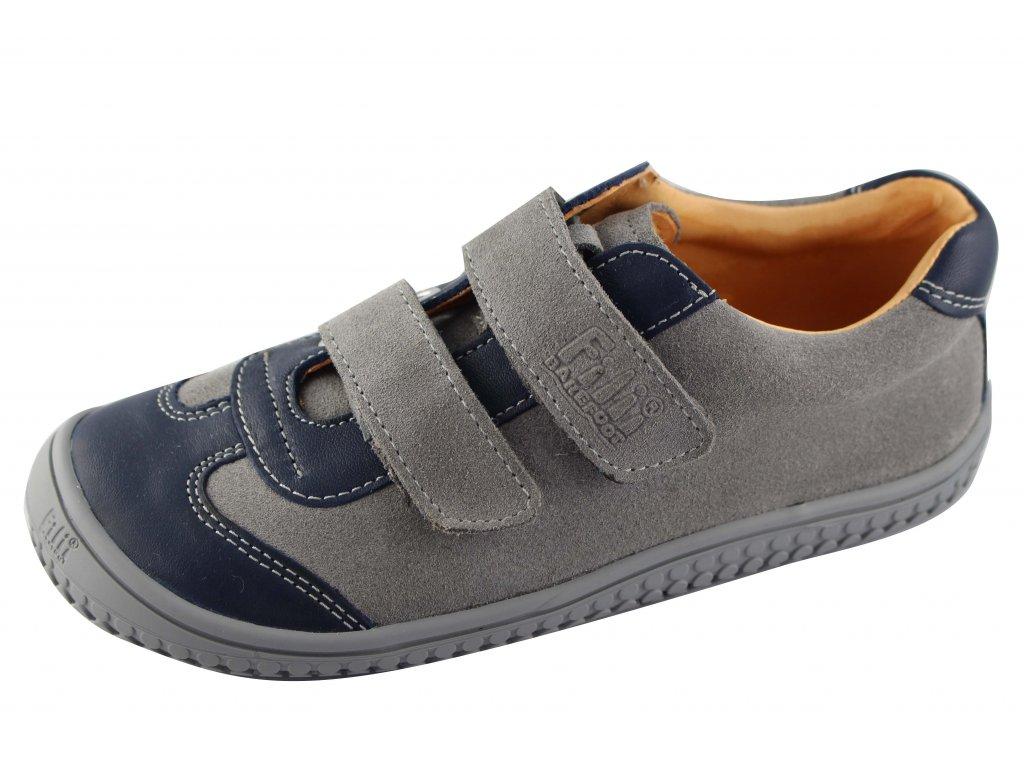 ed62683ca5e Filii barefoot - Leguan - grey stone W velur - bosoneboso