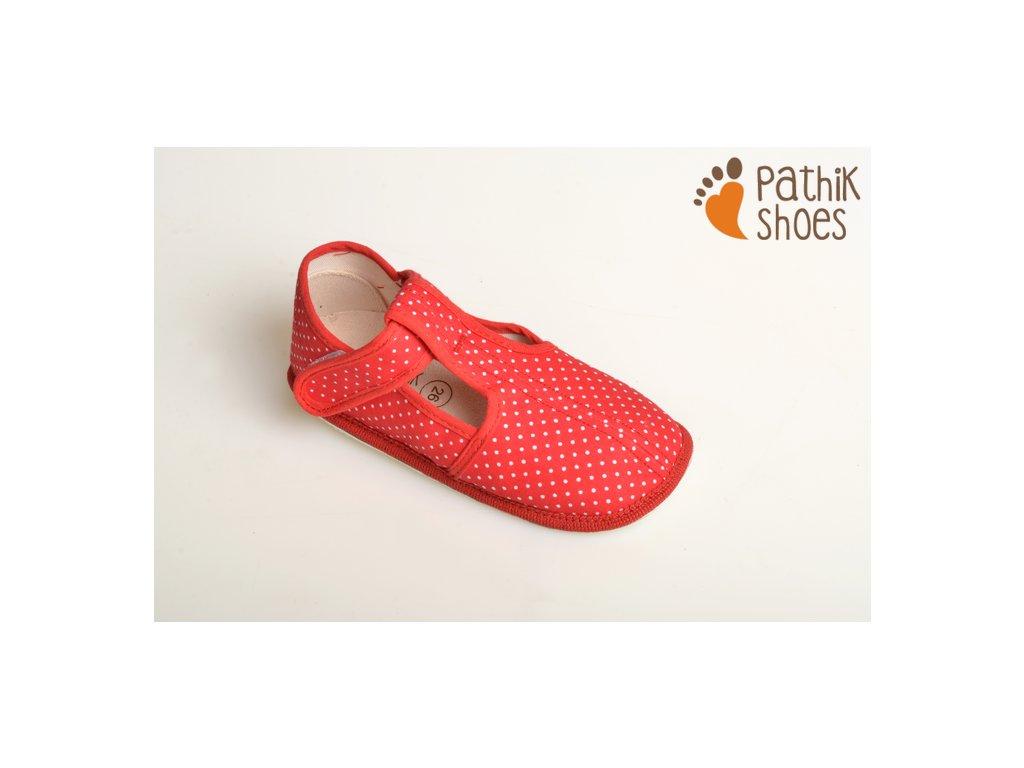 Pathik shoes bačkůrky červené - bosoneboso 62965d84d1
