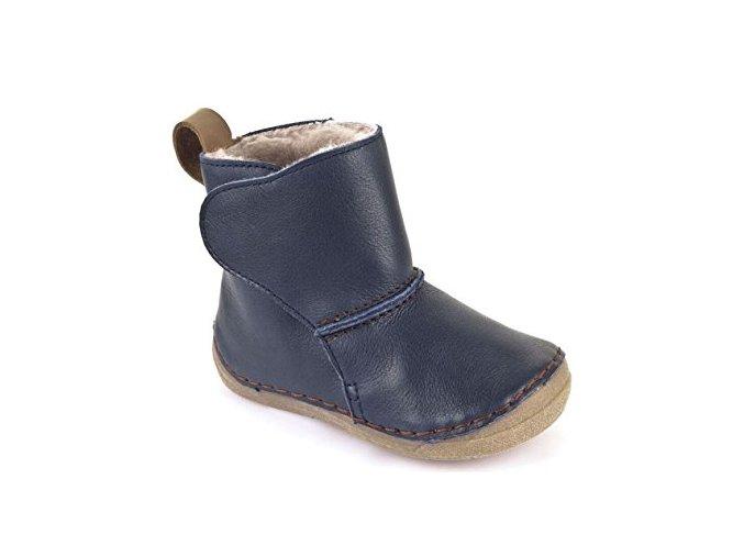 Froddo Boots Wool Dark Blue válenky s kožešinou