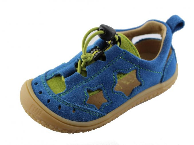 Filii barefoot Sandály Electric Blue Stars Vegan M