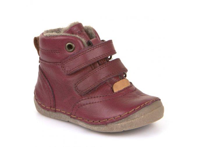 Froddo Winter Boots Bordeaux s kožešinou