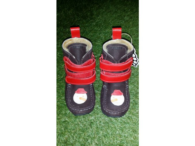 ZeaZoo Kids Yeti Brown / Red Waterproof Sheepskin