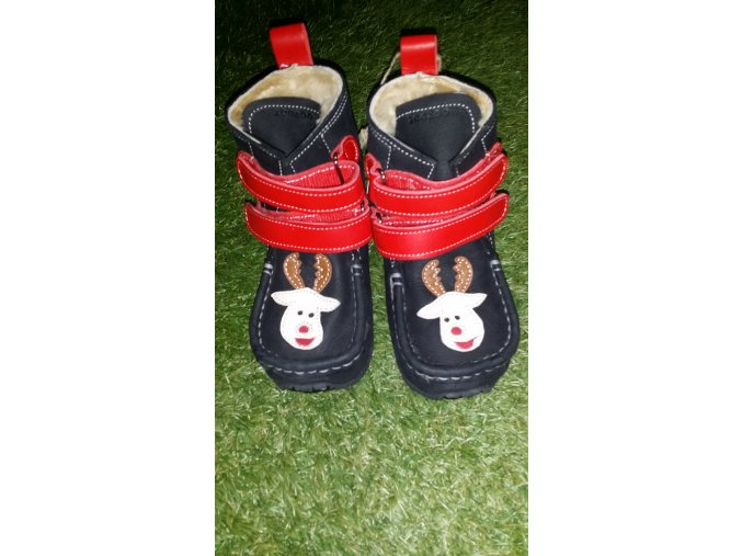 ZeaZoo Kids Yeti Black / Red Waterproof Sheepskin široké W