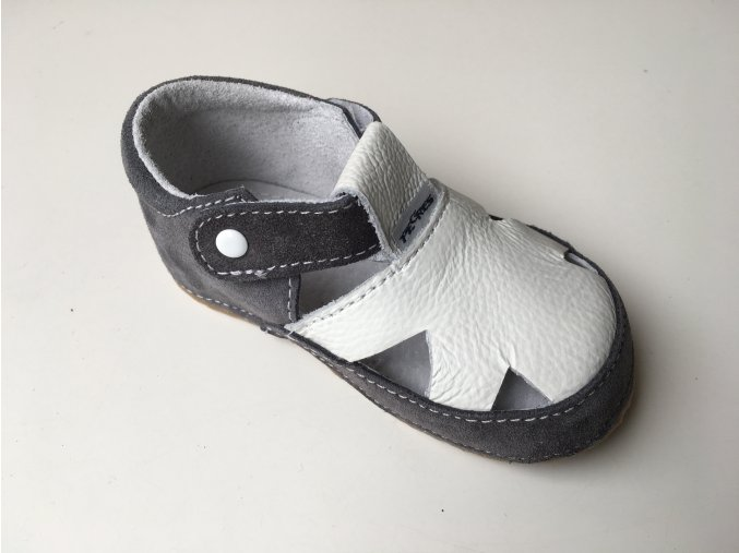 Bosé Pegres sandály bílo šedé