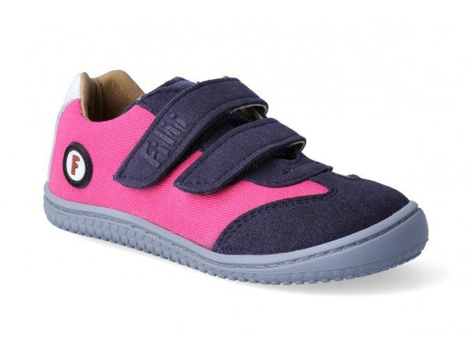 Filii barefoot - Sneaker Leguan velcro textile pink W