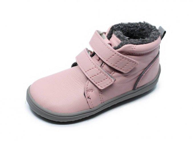 Be Lenka Penguin Pink - dětské zimní barefoot boty s membránou