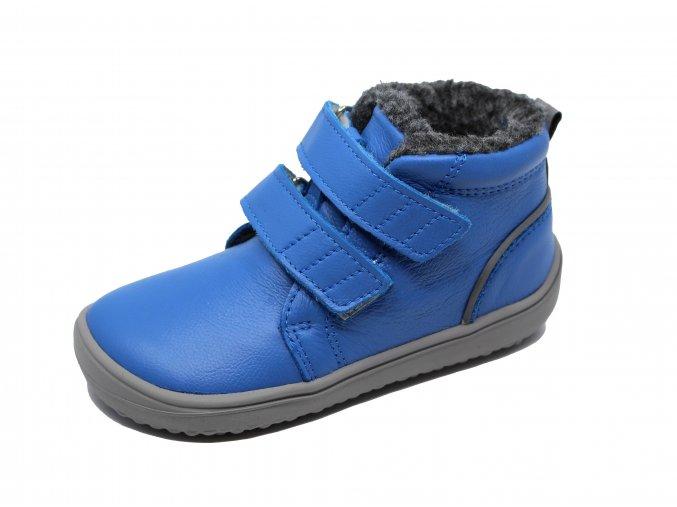 Be Lenka Penguin Blue - dětské zimní barefoot boty s membránou