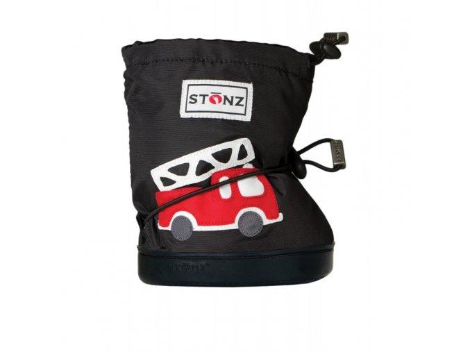 STONZ Booties Toddler - Fire Truck Black
