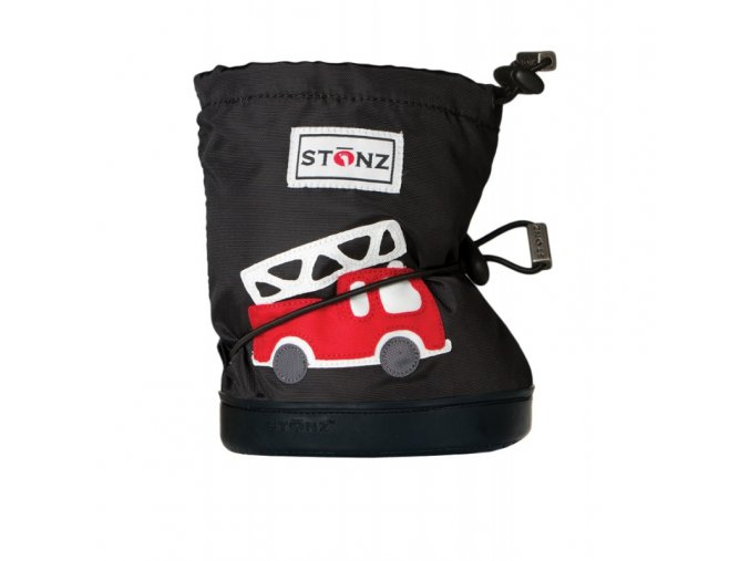 STONZ Booties Toddler - Fire Truck Black