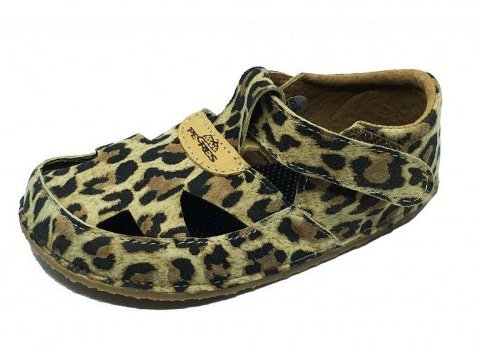 Barefoot Pegres sandály leopard BF20