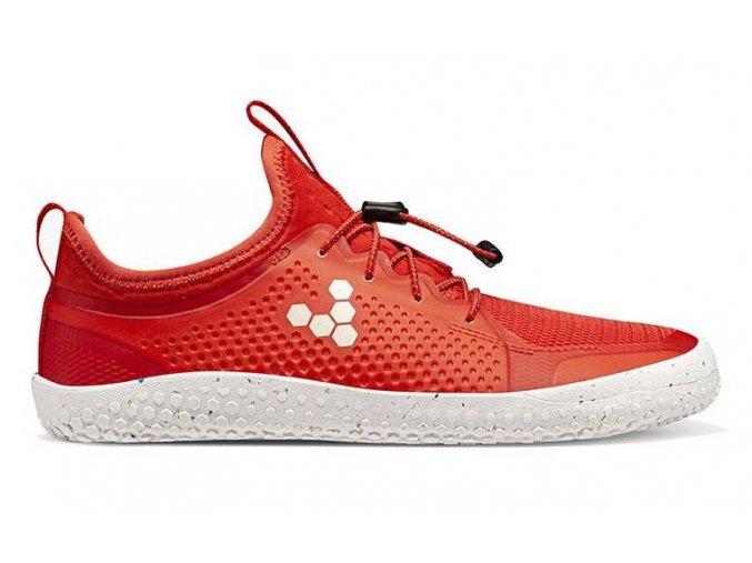 112095 01 vivobarefoot primus sport ii junior fiery coral side