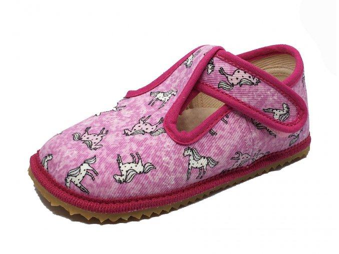 Beda Barefoot bačkůrky světle růžový koník ŠIRŠÍ
