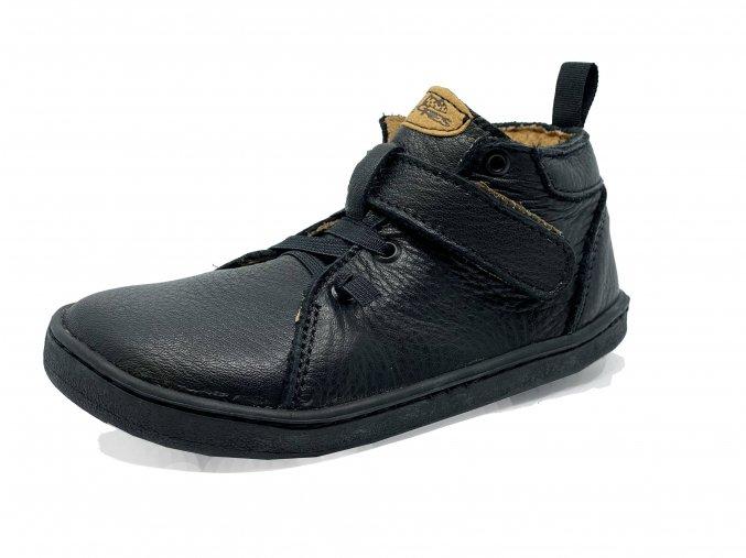 Barefoot Pegres Kožené celoročky BF52  černé