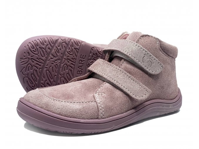 Baby Bare Shoes FEBO Fall Pink s membránou