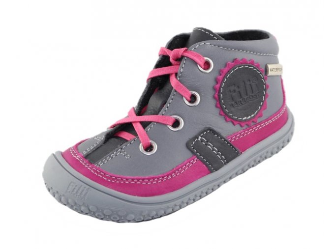 Filii barefoot - TEX Fleece stone/pink