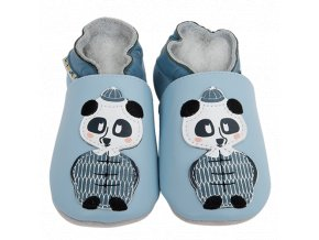 Chaussons cuir Panda Front