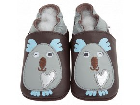 Chaussons cuir Koala Front