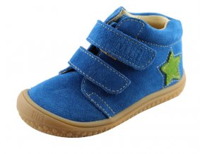 Filii barefoot - velours electric blue velcro