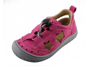 Filii barefoot SEA STAR vegan quick lock textile pink/stone M