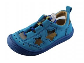 Filii barefoot SEA STAR vegan quick lock textile turquoise/blue M