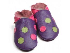Liliputi capáčky puntíky fialové
