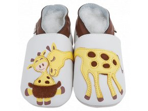 Chaussons cuir Girafe Front