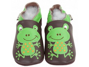 Chaussons cuir Grenouille Front