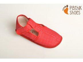Pathik shoes bačkůrky červené