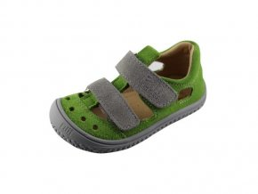 7490 filii barefoot kaiman velcro velours apple grey m
