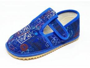Beda Barefoot bačkůrky modré nápisy UŽŠÍ