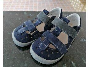 Beda Barefoot modré sandály Lucas  0001/SD/W