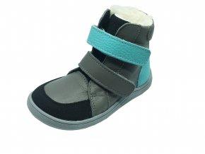 Baby Bare Shoes Febo Winter Grey Tyrkys Asfaltico - zimní barefoot boty s membránou