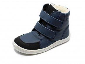 Baby Bare Shoes Febo Winter Navy - zimní barefoot boty s membránou