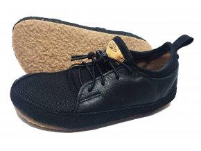 Barefoot Pegres Kožené tenisky černé BF33