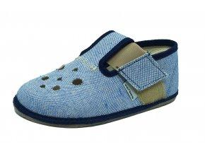 Barefoot Pegres bačkůrky modré BF03