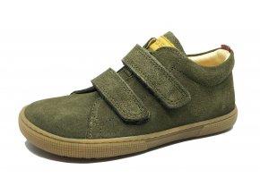 KOEL4kids Bernardo khaki barefoot celoroční boty
