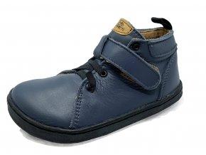 Barefoot Pegres Kožené celoročky BF52 modré