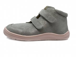 Baby Bare Shoes FEBO Fall Grey/pink s membránou