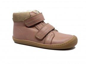 KOEL4kids Bart nappa wool Old pink barefoot zimní boty