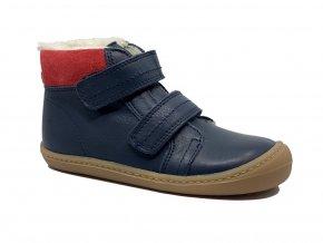 KOEL4kids Bart nappa wool Blue barefoot zimní boty