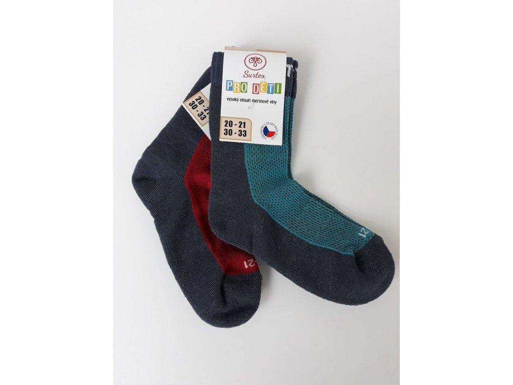 Ponožky Surtex 80% Merino SPORT - dětské - bosonožka a3dd359a51
